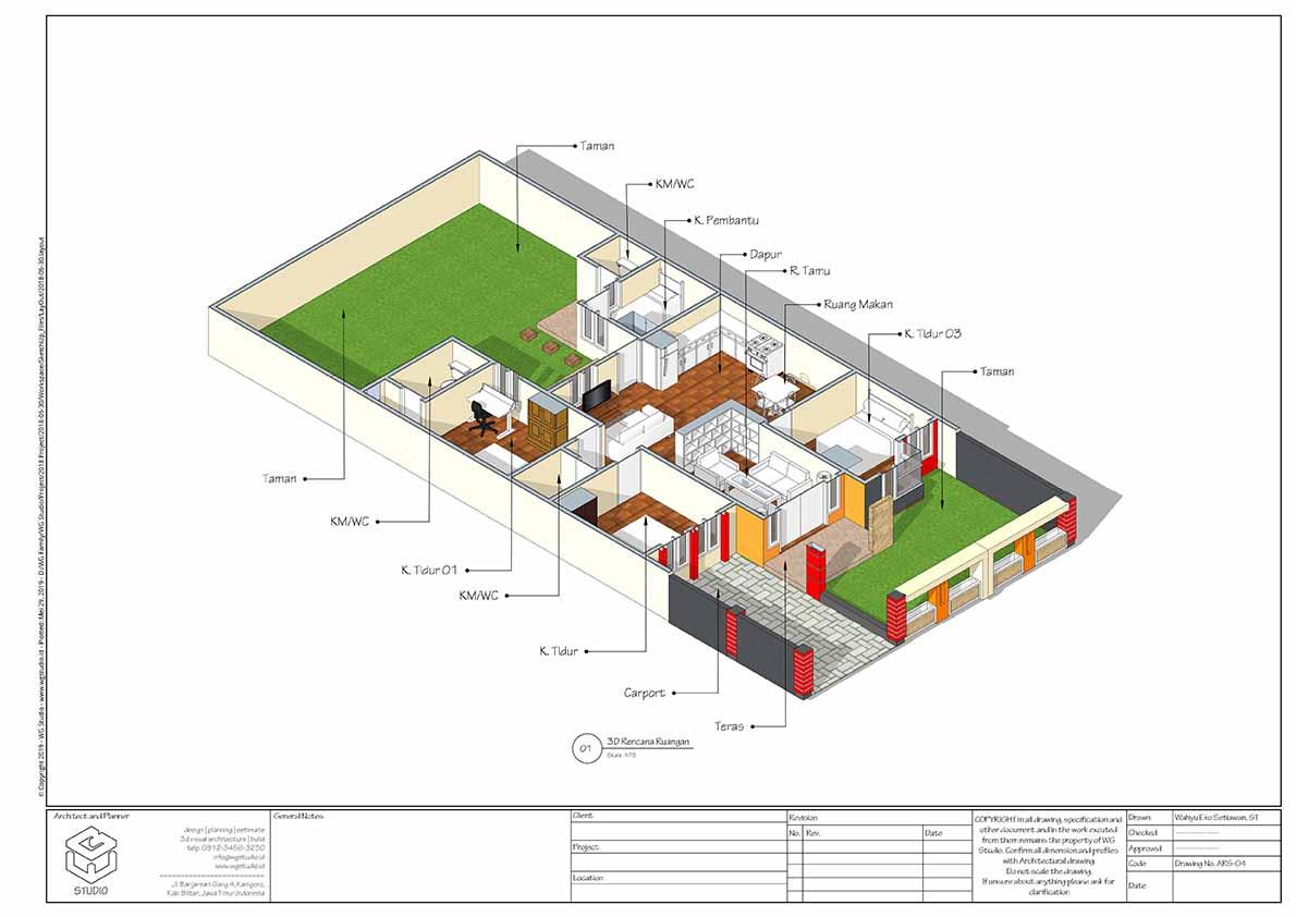 Home Plan atau Denah Siap Pakai