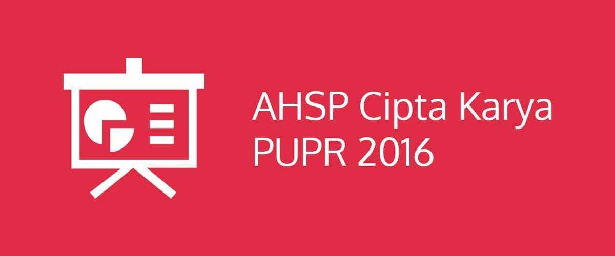 AHSP Cipta Karya 2016