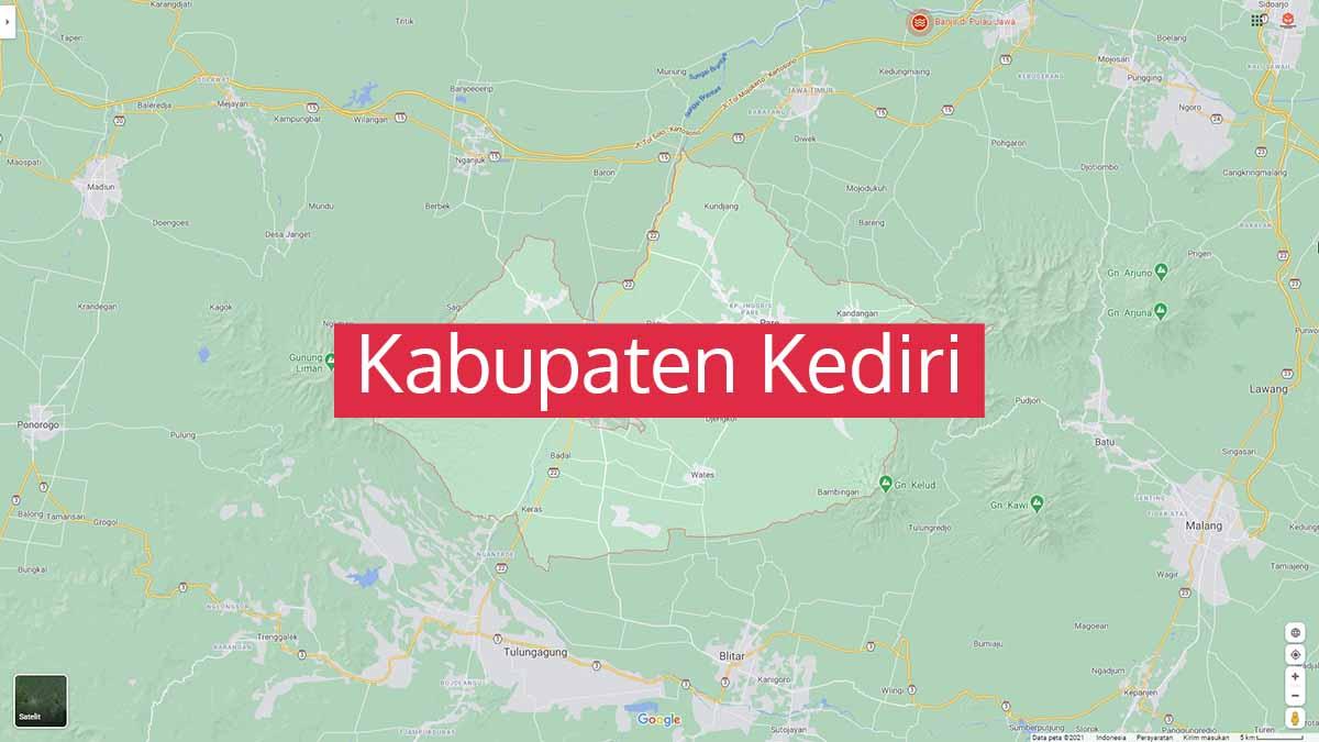 Peta Kabupaten Kediri